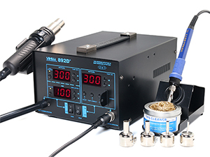 YIHUA-892D+ SMD Hot Air Rework Station with Soldering Iron