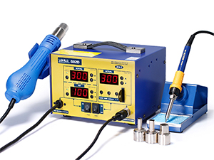 YIHUA-882D/882D+ SMD Hot Air Rework Station with Soldering Iron