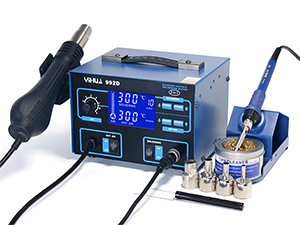 YIHUA-992D/992D+ 2 in 1 LCD SMD Hot Air Rework Station with Soldering Iron