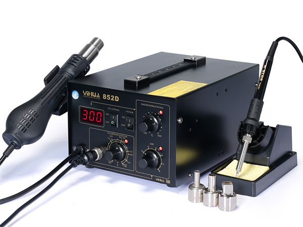 YIHUA-852/852D/852D+ Series 2 in 1 Hot Air Rework Station with Soldering Iron