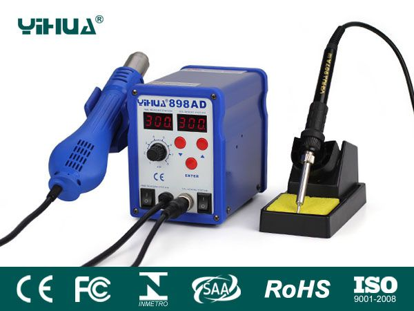 YIHUA-898AD/898AD+/898BD/898BD+ Series Hot Air Rework Station with Soldering Iron