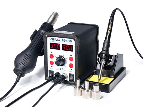 YIHUA-898BD/898BD+ Series Hot Air Rework Station with Soldering Iron