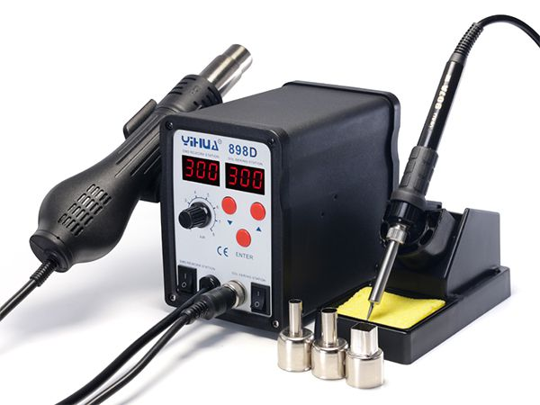 YIHUA-898D/898D+ Series Hot Air Rework Station with Soldering Iron