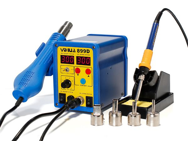 YIHUA-899D/899D+ series  Hot Air Rework Station with Soldering Iron