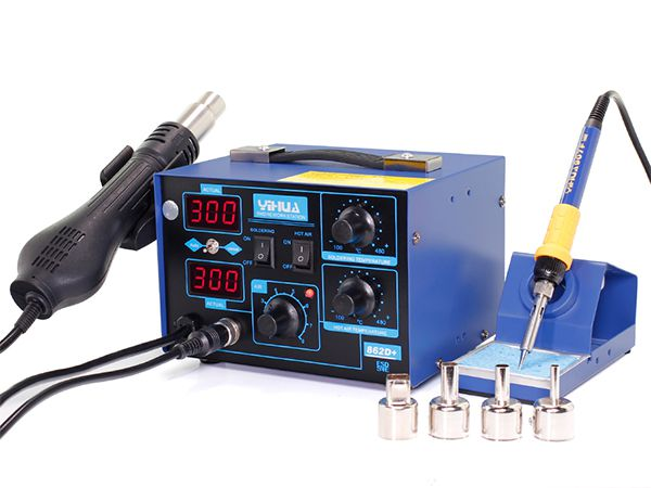 YIHUA-862D+ SMD Hot Air Rework Station with Soldering Iron