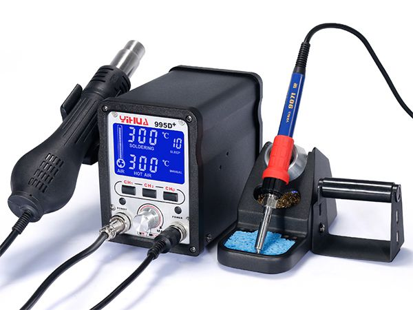 YIHUA-995D/995D+ LCD SMD Hot Air Rework Station with Soldering Iron