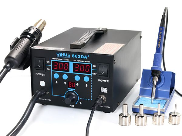 YIHUA-862DA+ 2 in 1 SMD Hot Air Rework Station with Soldering Iron