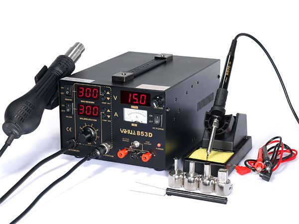 YIHUA-853DA/853D Series/853D+ Soldering Rework Station with Power Supply
