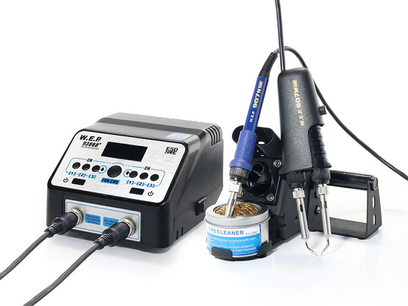 Upgrade Version SMD Hot Tweezer Soldering Station, Item WEP-938BD+